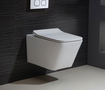 Modern One-Piece 1.1/1.6 GPF Dual Flush Square Wall Hung Elongated Toilet Bowl Only in White Custom Height